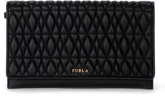 Furla Cometa Black Quilted Leather Pochette
