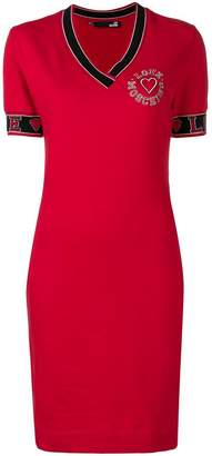 Love Moschino cheerleader logo T-shirt dress