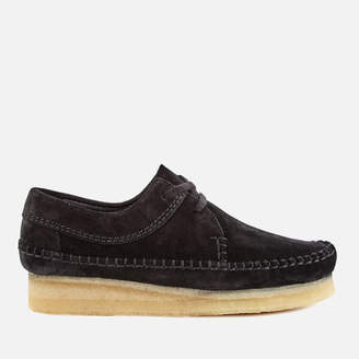Clarks Women's Weaver Shoes - Black Suede