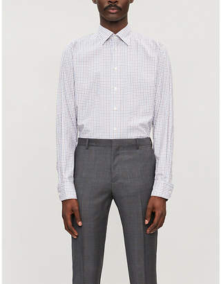 Eton Contemporary-fit check cotton-twill shirt
