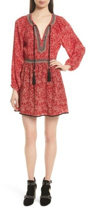 Women's The Kooples Beaded Print Silk Dress $365 thestylecure.com