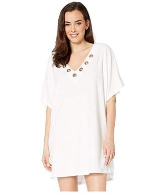 MICHAEL Michael Kors Terry Lace-Up Tunic Cover-Up