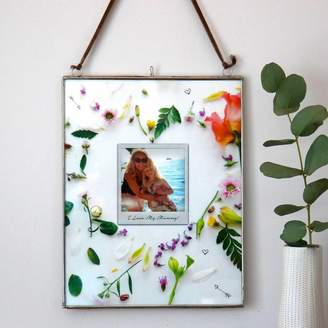 Pepper Print Shop Personalised Floral Heart Photo Hanging Frame