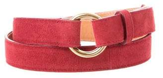 Loro Piana Suede Buckle Belt