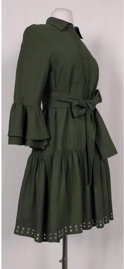 Derek Lam- Green Shirt Dress w/ Grommets Sz 2