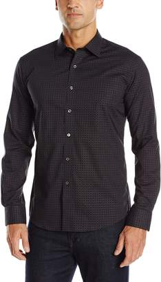 Bugatchi Men's Charcoal Bricks Button Down Shirt