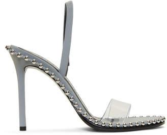 Alexander Wang Silver Reflective Nova Sandals