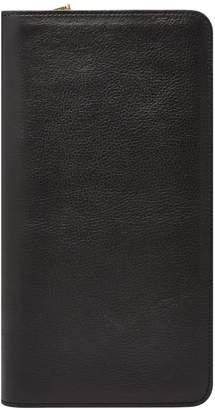 Fossil Leather Zip Passport Case