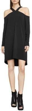 BCBGMAXAZRIA Adaly Cold-Shoulder Knit Tunic Dress