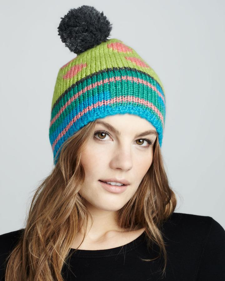 1717 Olive Pom Ski Hat