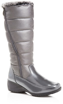 Khombu Abigail Metallic Quilted Tall Cold Weather Boots $95 thestylecure.com