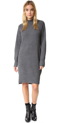 DKNY Cashmere Sweater Dress with Side Slits $698 thestylecure.com