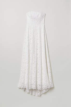 H&M Long Lace Dress - White