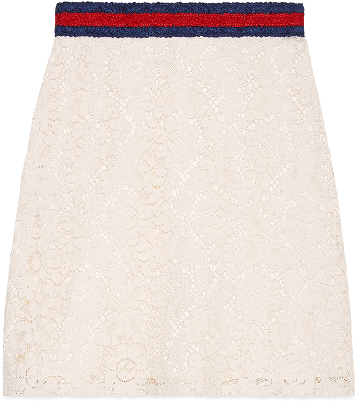 Cluny lace skirt with Web