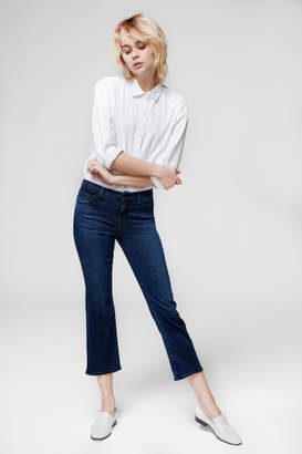 J Brand Selena Mid-Rise Cropped Boot Cut In Unbound