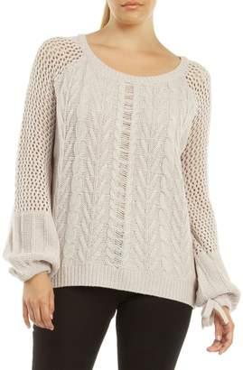 Dex Open Stitch Long-Sleeve Sweater
