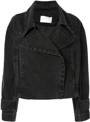 Ingorokva elea denim biker jacket