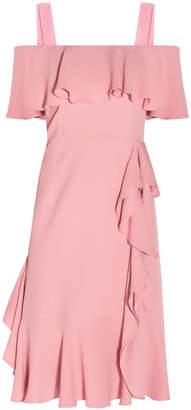 Alexander McQueen Off-The-Shoulder Ruffled Dress