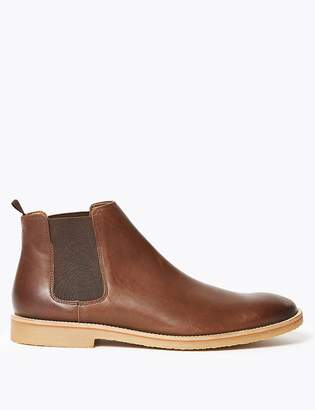 Marks and Spencer Leather Crepe Sole Chelsea Boots
