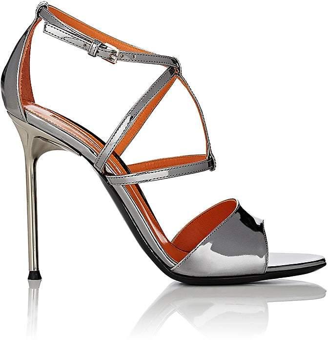 Walter De Silva Women's Specchio Leather Crisscross-Strap Sandals