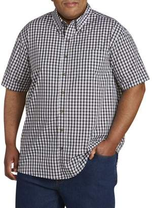 Canyon Ridge Men's Big and Tall Easy Care Short Sleeve Plaid Shirt, up to 7XL