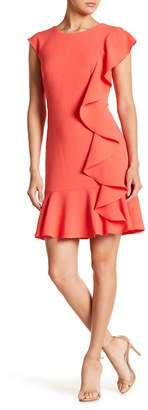 Eliza J Cap Sleeve Ruffle Dress