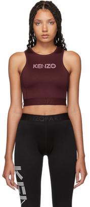 Kenzo Burgundy Logo Sport Tank Top