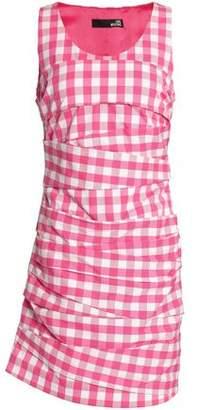 algodón Com mini pliegues Moschino de · con fruncidos vestido Love tYYqZgx