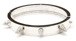 CC Skye Pave Love Spike Bracelet in Silver