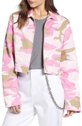 Melody Ehsani Camo Crop Jacket