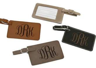 Monogram Online Personalized Monogram Leatherette Luggage Tag