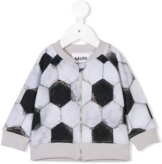 Molo football print zipped top