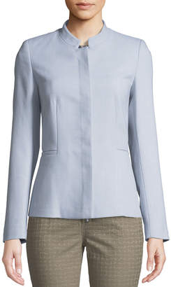Lafayette 148 New York Ashton Crepe Jacket with Stand Collar