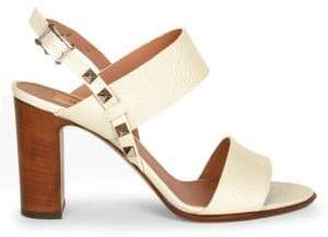Valentino Women's Rockstud Double Strap Leather Sandals - Ivory - Size 37 (7)