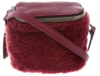 Kara Shearling Mini Stowaway Crossbody Bag