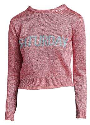 Alberta Ferretti Rainbow Week Capsule Days Of The Week Saturday Lurex Sweater