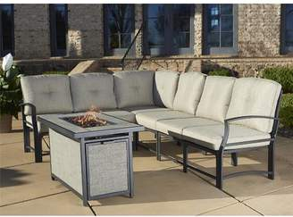 Three Posts Pavilion Aluminum Sectional with Cushions