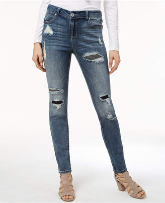 INC International Concepts I.n.c. Rip-And-Repair Skinny Jeans, Created for Macy's