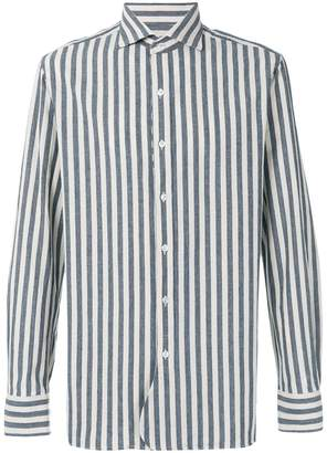 Doppiaa striped straight hem shirt
