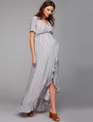 Rachel Pally Ruffle Wrap Maternity Maxi Dress