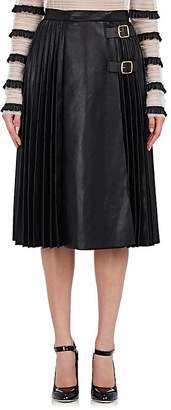 Philosophy di Lorenzo Serafini Women's Pleated Leather Midi-Skirt