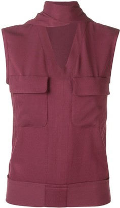 Golden Goose patch pocket vest top