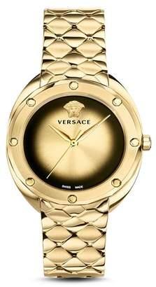 Versace Shadov Gold Bracelet Watch, 38mm