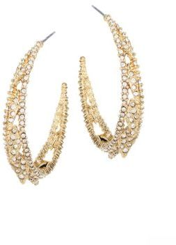 Alexis Bittar Alexis Bittar Elements Crystal Hoop Earrings/1.5