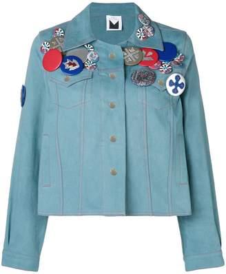 Sadie Williams denim jacket with embroidered badges