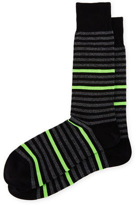 Paul Smith Neon Striped Socks $30 thestylecure.com