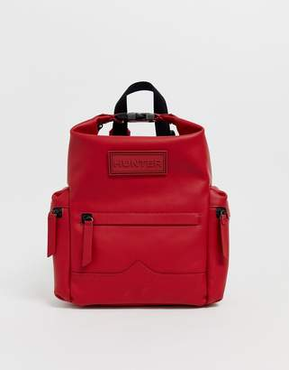 Hunter mini rubberised leather backpack