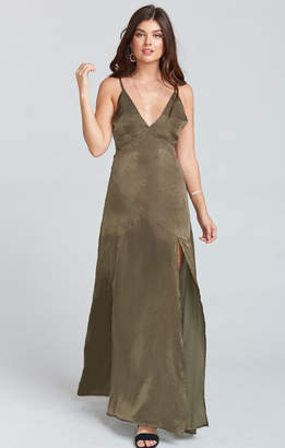 Show Me Your Mumu Starlet Maxi Dress ~ Olive
