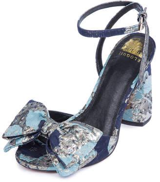 ELOQUII Minnie Brocade Bow Heel