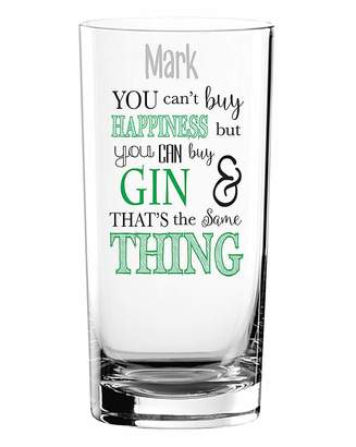 Fashion World You Can't Buy Happiness Gin Glass